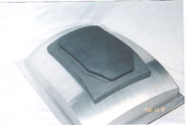 Body armor that was created by a cold isostatic press mold is shown.