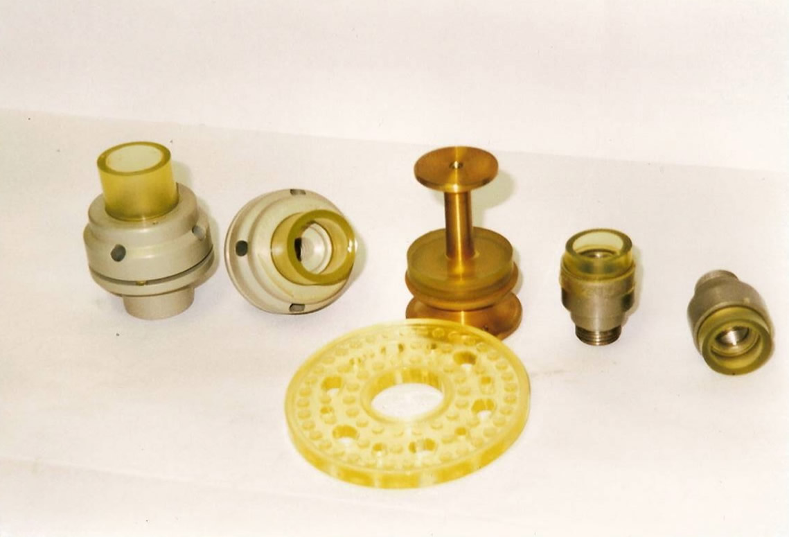 Six circular applications of urethane shown.